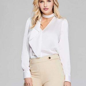 New GUESS BY MARCIANO Heart's Desire Ruffle Blouse